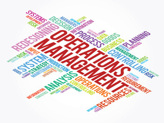 Operations Management related items, vector concept background
