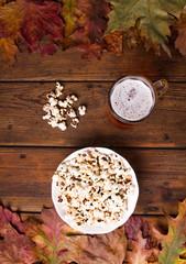 Pop corn and beer