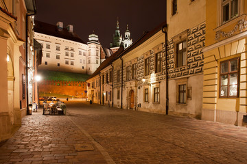 Kanonicza Street in Krakow at Night