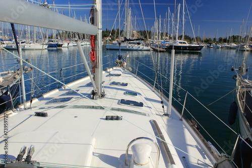 Foto op Canvas Zeilen view from super yacht
