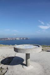Table d'orientation à la Pointe Pen-Hir.