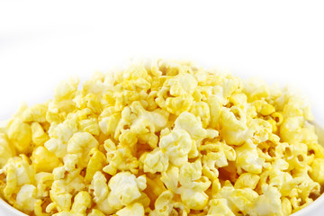 pop corn snack isolated on white background.