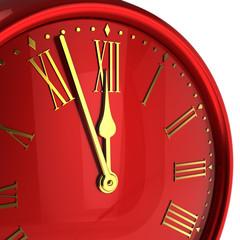 Happy New Year alarm clock bauble