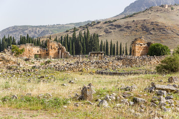 Hierapolis. Ruins of the nothern Byzantine gate, IV century AD