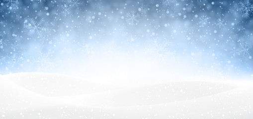 Christmas snowy banner.