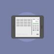 Online banking flat icon illustration