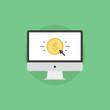 Online money making flat icon illustration