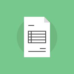 Invoice paper flat icon illustration