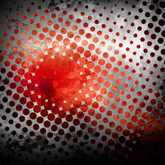 metal background with halftone design