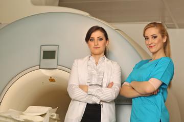 Radiologic technician at work