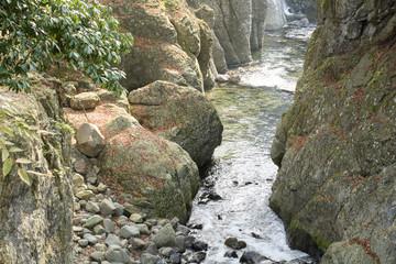 耶馬溪・魔林峡の峡谷