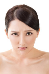 Sad Asian beautiful woman