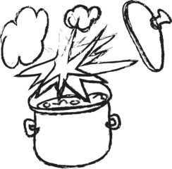doodle cooking pot and explosions