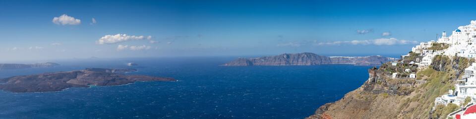 Panorama of the caldera of Santorini