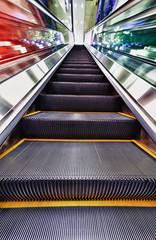 Escalator at Subway Station, Hong Kong, China