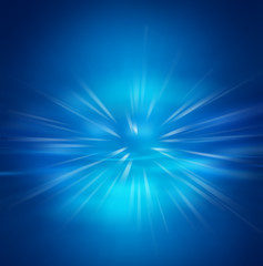 Abstract motion explosion in dark blue background