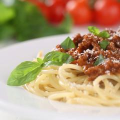 Spaghetti Bolognese Nudeln Pasta Gericht mit Hackfleisch