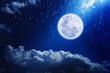 Leinwanddruck Bild - Full moon