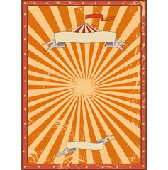 Circus red vintage background for a poster