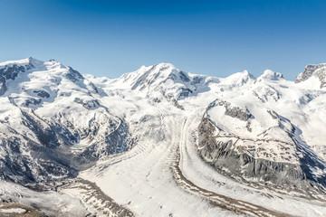 Snow Mountain Range Landscape at Alps Region, Switzerland