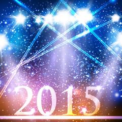 Happy new year 2015 celebration design, easy editable