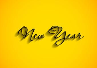 happy new year text, easy editable