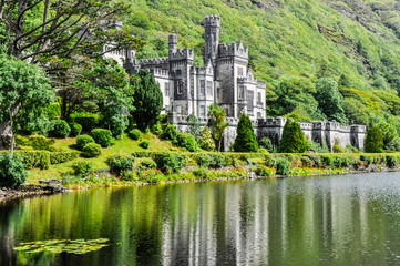 Kylemore Abbey in Connemara, Ireland
