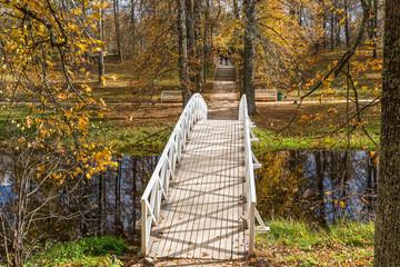 White wooden bridge