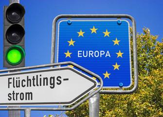 Flüchtlingsstrom Richtung EU