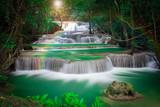 Fototapety Thailand waterfall in Kanchanaburi (Huay Mae Kamin)