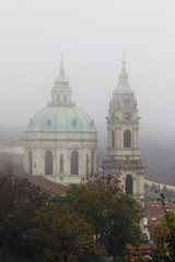 Church of St Nikolas in fog