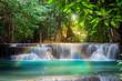 Leinwanddruck Bild - Thailand waterfall in Kanchanaburi (Huay Mae Kamin)