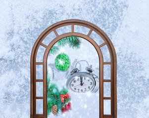 Christmas clock five minutes left