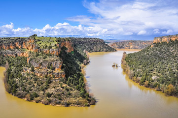 Duraton Canyon Natural Park in Segovia, Spain