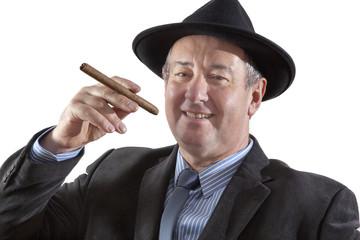 Men Portrait with Cigar