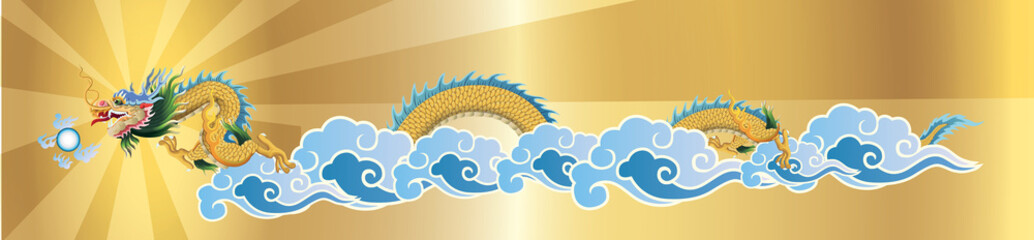 dragon flying on the sky, vector file