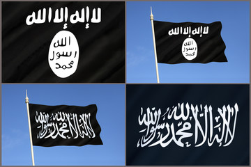 Flag of Al-Qaeda - ISIS - ISIL - Islamic State Flag