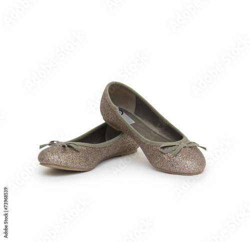 canvas print picture Ballet shoes isolated on the white