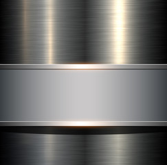 Background with metallic plate texture, polished metal