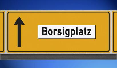 Hinweisschild Borsigplatz