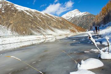 frozen lake, Livigno