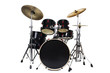 canvas print picture - Drum Kit Isolated on White Background