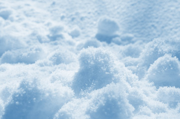 Background of snow lumps