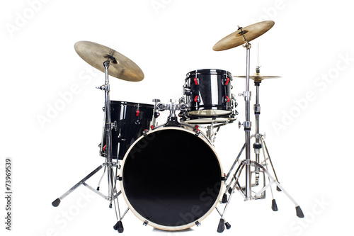 Drum Kit Isolated on White Background - 73969539
