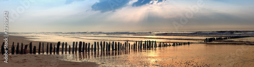 canvas print picture Bunen Panorama am Strand