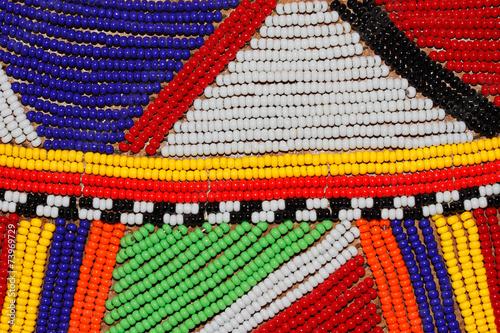 Leinwandbild Motiv African beads used as decoration by the Masai tribe