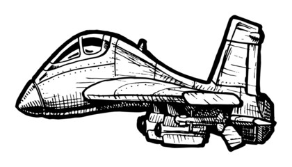 Fighter aircraft in comics style