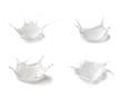 milk splash drop white liquid - 73970592
