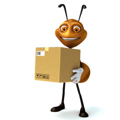 Ant with box