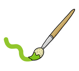 paint brush with green color